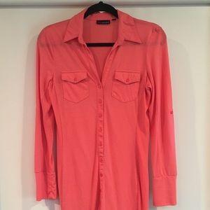 Ultra Flirt Coral Tee Shirt Dress